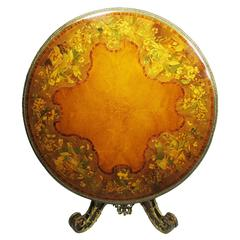 Victorian Marquetry Tip-Top Center Table Attributed to Edward Holmes Baldock