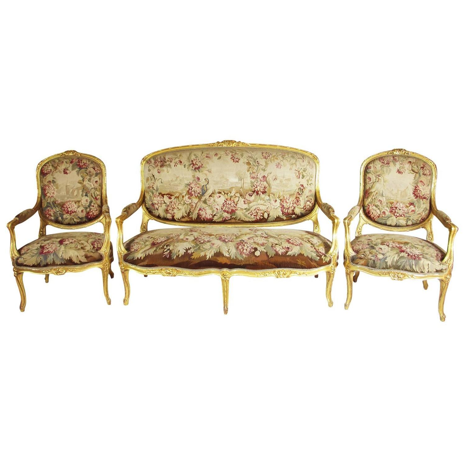 Louis XV Living Room Sets - 22 For Sale at 1stdibs