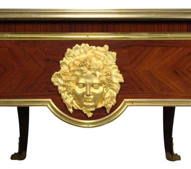 French 19th Century Louis XV Style Ormolu-Mounted Bureau Plat Desk For Sale 4
