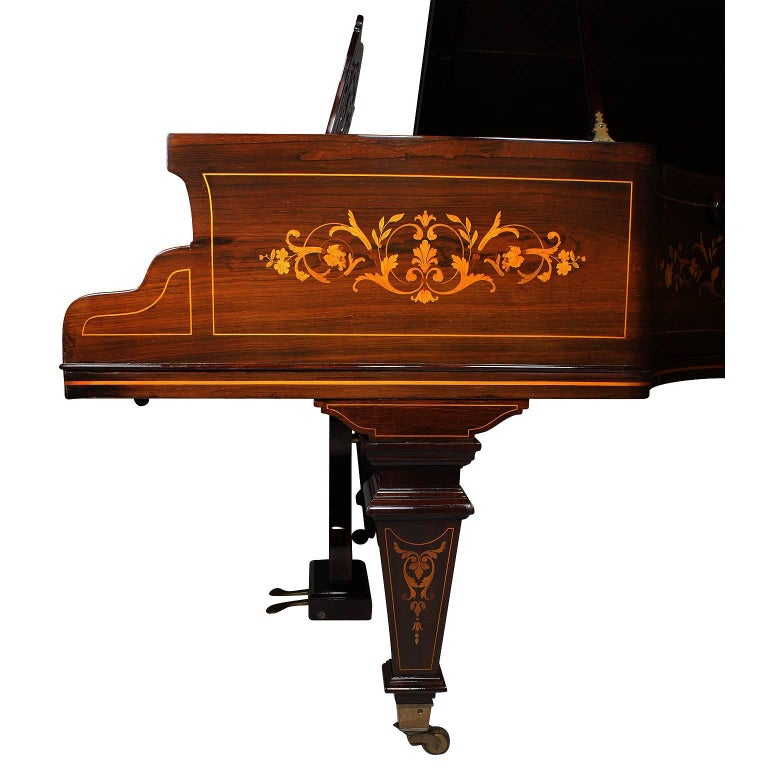 19th Century Louis XIV Style Marquetry Baby Grand Piano by Collard & Collard In Excellent Condition For Sale In Los Angeles, CA