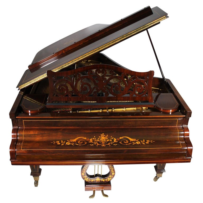 19th Century Louis XIV Style Marquetry Baby Grand Piano by Collard & Collard For Sale 1