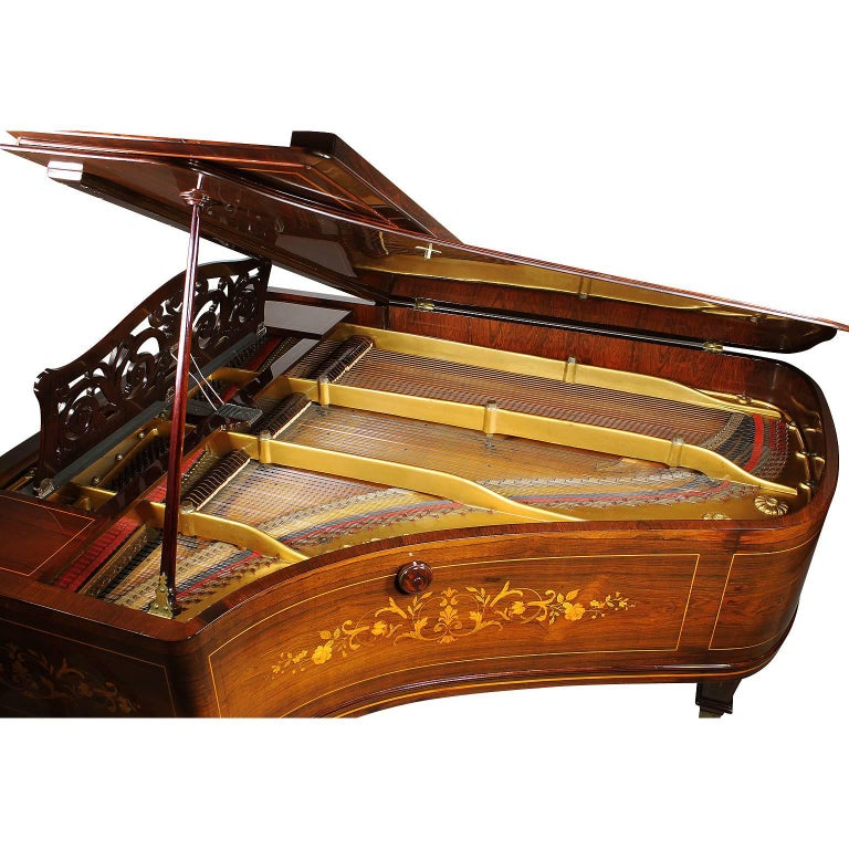 19th Century Louis XIV Style Marquetry Baby Grand Piano by Collard & Collard For Sale 2