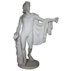 "Ferdinando Vichi Lifesize Marble Figure ""Apollo Belvedere"""