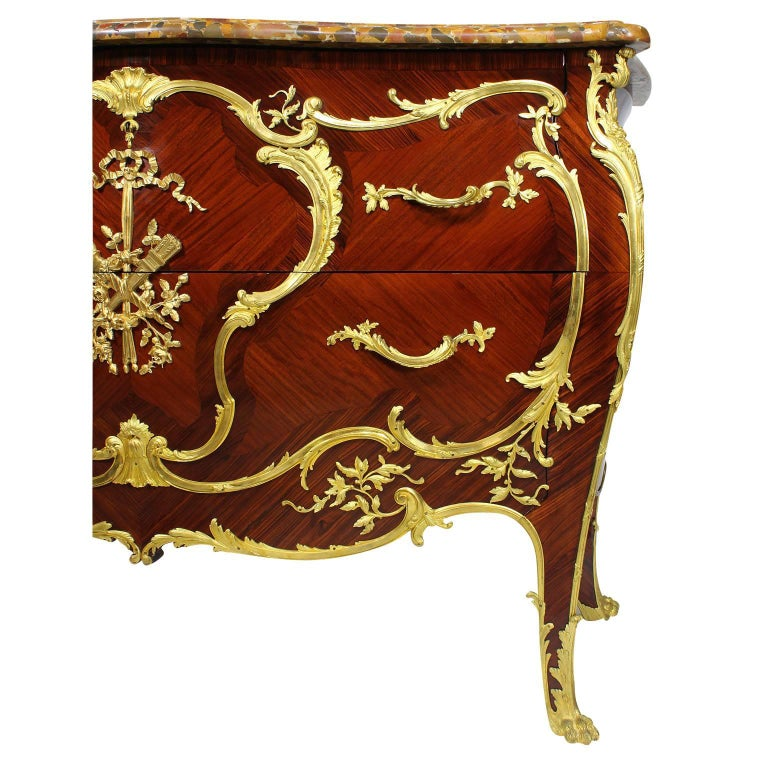 Early 20th Century French 19th-20th Century Louis XV Style Ormolu-Mounted Commode For Sale