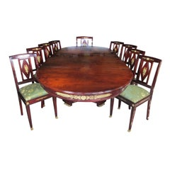 French 19th Century Empire Style Napoleon III Mahogany and Ormolu Dining Suite