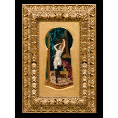 "Moritz Stifter ""Erotica Keyhole"" Oil Painting on Board"
