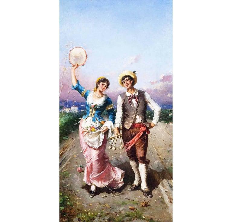 Francesco Peluso (Italian, 1836-1916) a fine Italian 19th-20th century oil on canvas
