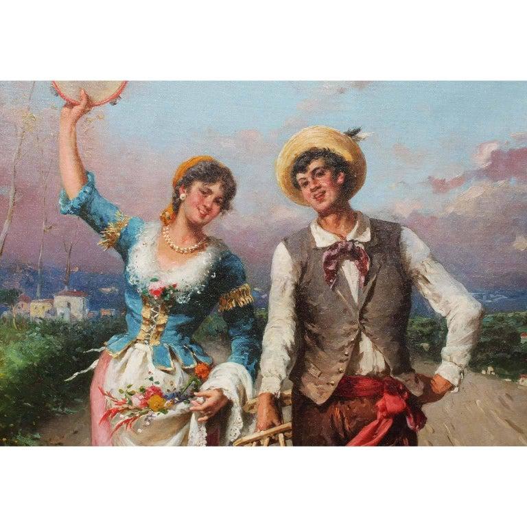 Country Francesco Peluso (Italian, 1836-1916) An Oil on Canvas
