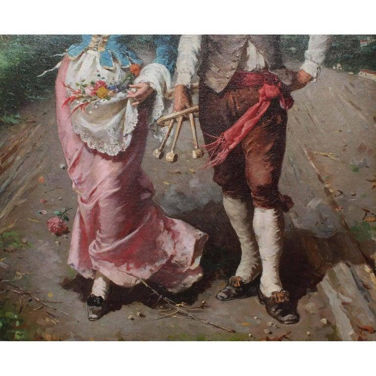 Gilt Francesco Peluso (Italian, 1836-1916) An Oil on Canvas