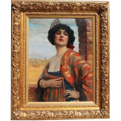 "Hans Hassenteufel 'German, 1887-1922' a Fine Oil on Canvas Titled ""Spanish Maja"""