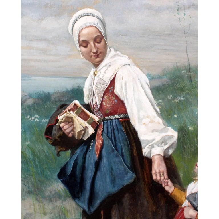 Folk Art Large Watercolor