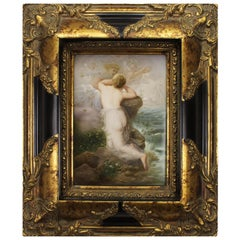 "German Late 19th Century Berlin 'K.P.M.' Porcelain Plaque ""Trauernde Psyche"""