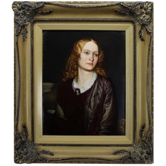 German Late 19th Century Berlin 'K.P.M.' Porcelain Plaque of Mary Ann Collman