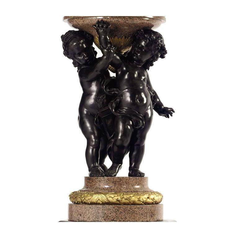 Late 19th Century Monumental Pair of French 19th-20th Century Putto Flambeaux Urns Torcheres For Sale