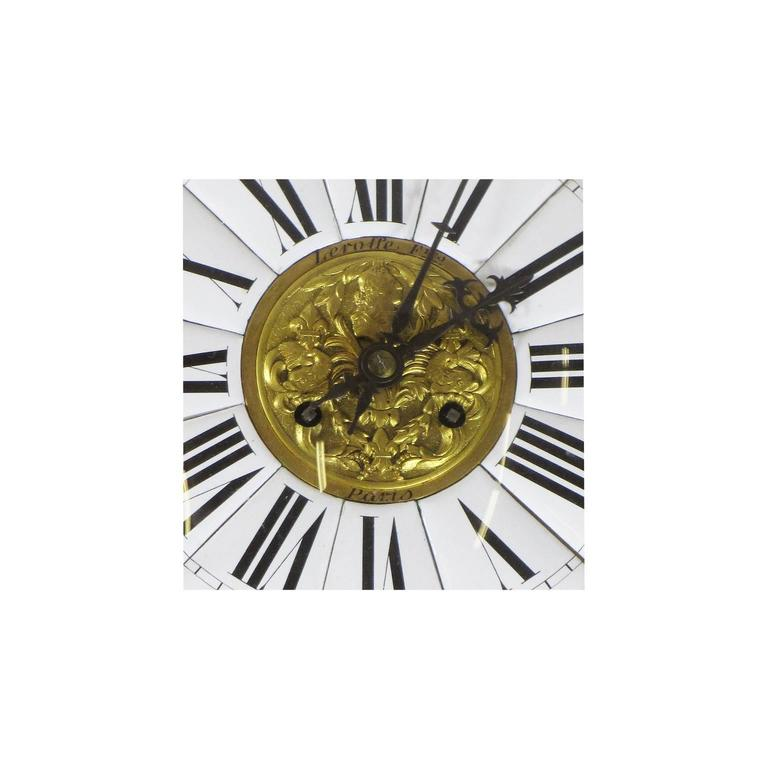 Fine French 19th Century Louis XV Style Gilt Bronze Cartel Clock Lerolle Freres In Good Condition For Sale In Los Angeles, CA