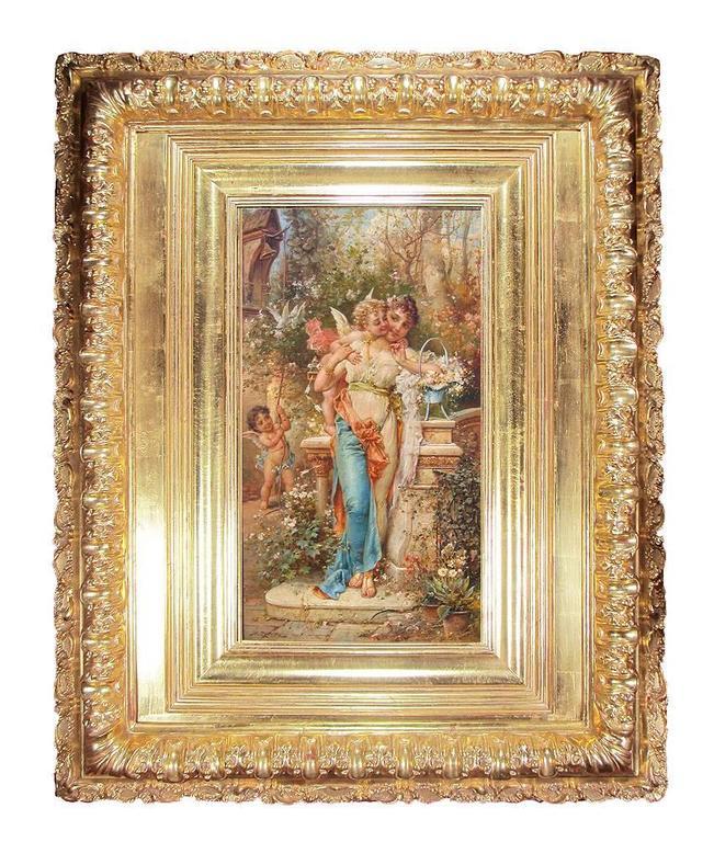 Hans Zatzka (Austrian, 1859-1945) a superb quality oil on canvas titled