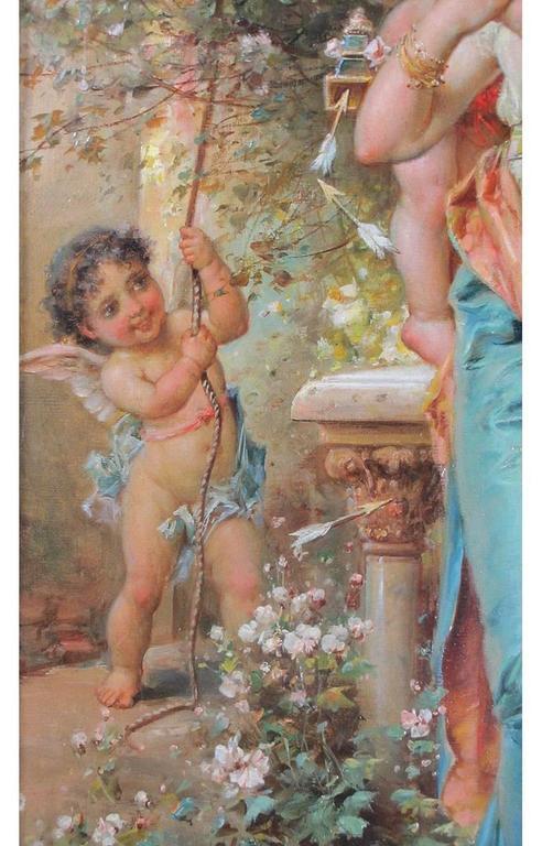 Wood Hans Zatzka, Austrian Oil on Canvas Titled