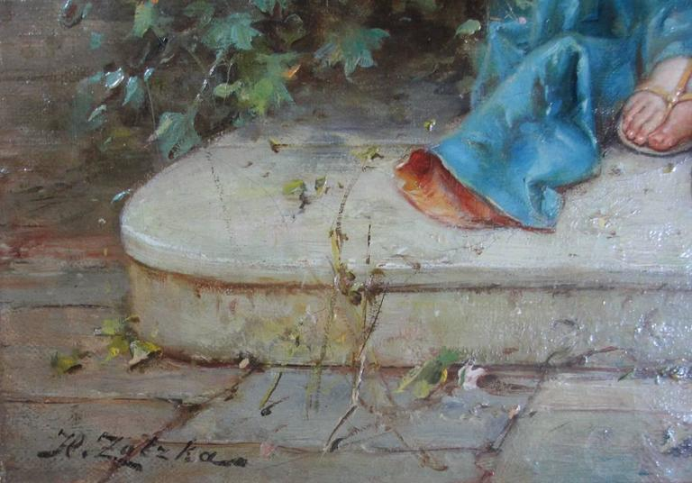 Hans Zatzka, Austrian Oil on Canvas Titled