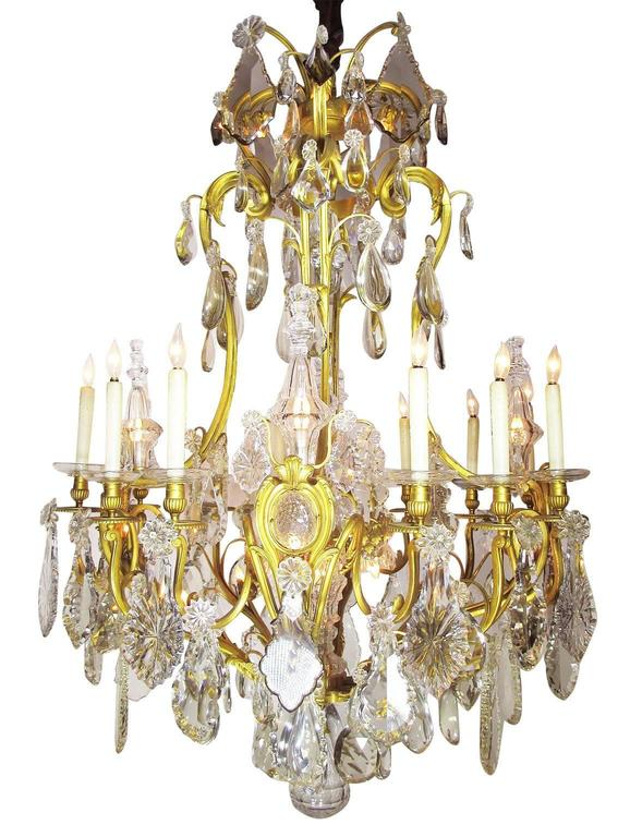 The Spelling Manor Living Room Chandelier A Very Fine And Palatial French 19th Century