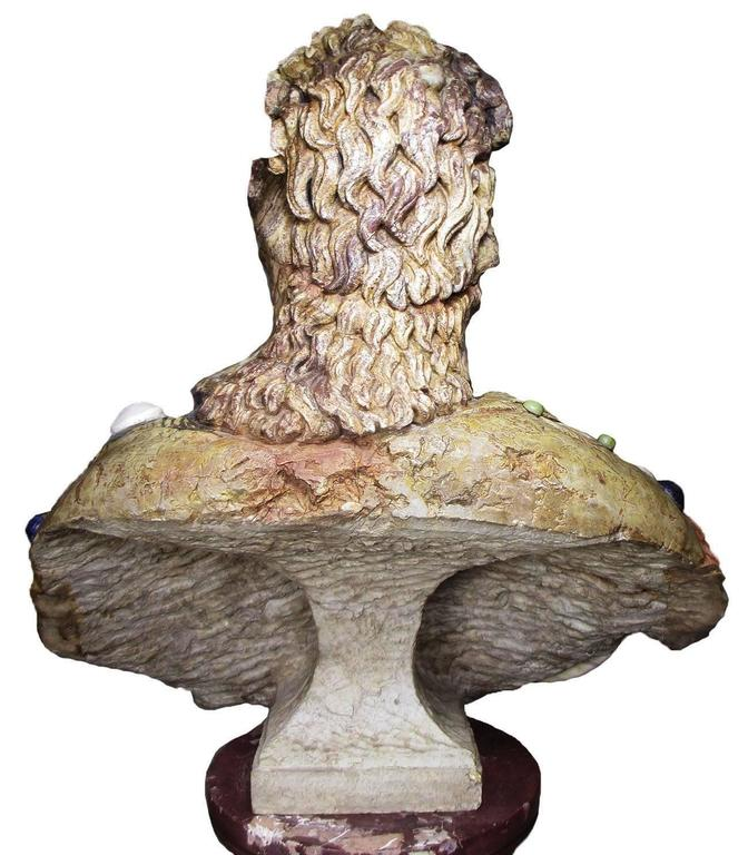 Lifesize Italian 19th Century Specimen Marble Bust of a Greco-Roman Warrior For Sale 1