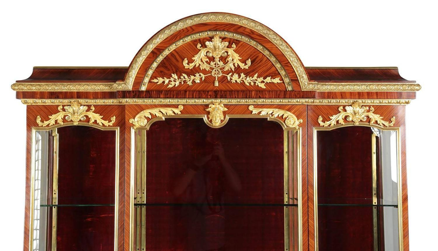 Palatial Louis Xvi Style Ormolu Mounted Kingwood And