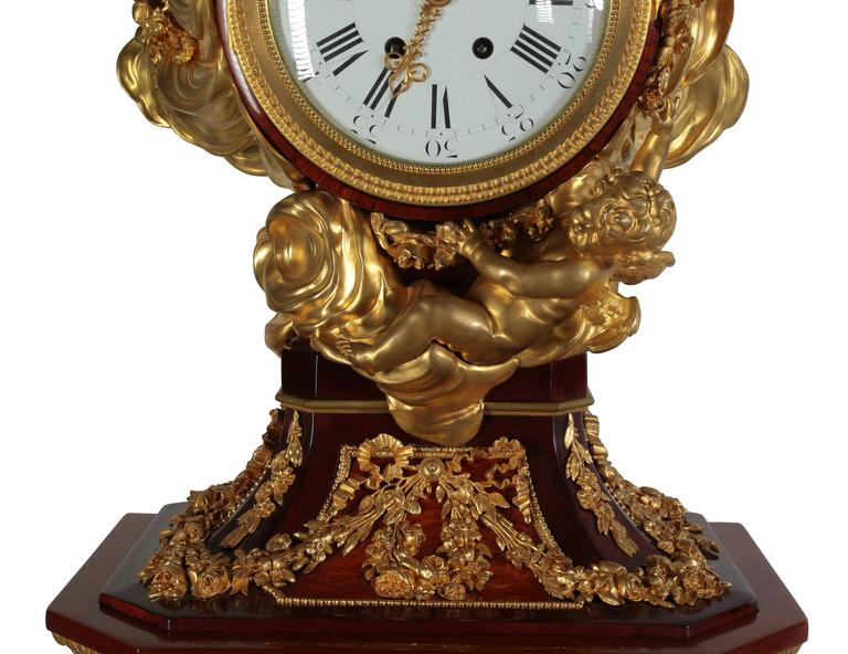 French 19th Century Louis XVI Style Ormolu-Mounted Grandfather - Tall Case Clock In Good Condition For Sale In Los Angeles, CA