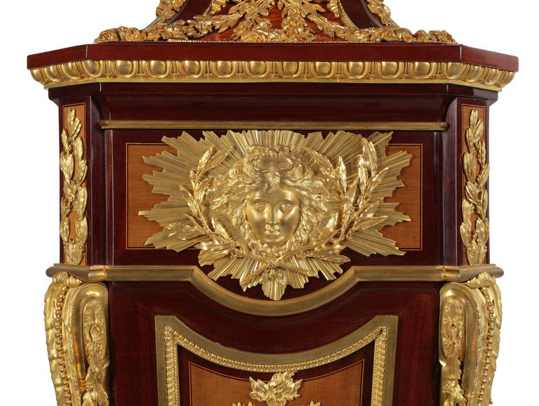 Tulipwood French 19th Century Louis XVI Style Ormolu-Mounted Grandfather - Tall Case Clock For Sale