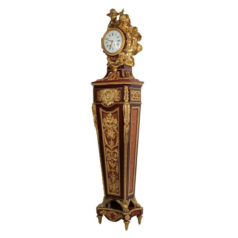French 19th Century Louis XVI Style Ormolu-Mounted Grandfather - Tall Case Clock For Sale 5
