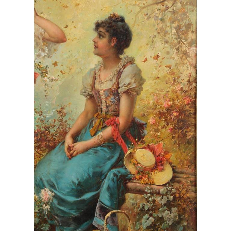 Gilt Hans Zatzka, Austrian Oil on Board Titled