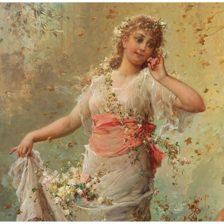 Hans Zatzka, Austrian Oil on Board Titled