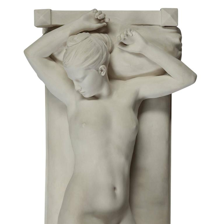 French Sevres Biscuit Porcelain Figure of a Nude