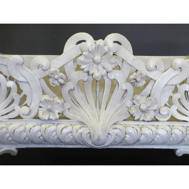 Art Nouveau French Art-Nouveau Carved Wood Planter, Former Property of Oprah Winfrey For Sale