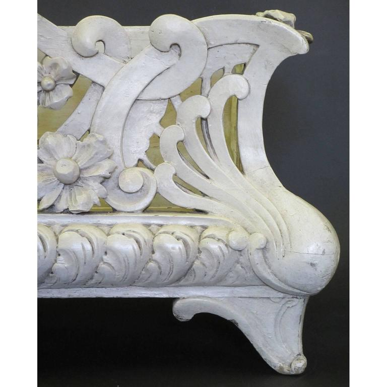 French Art-Nouveau Carved Wood Planter, Former Property of Oprah Winfrey In Distressed Condition For Sale In Los Angeles, CA