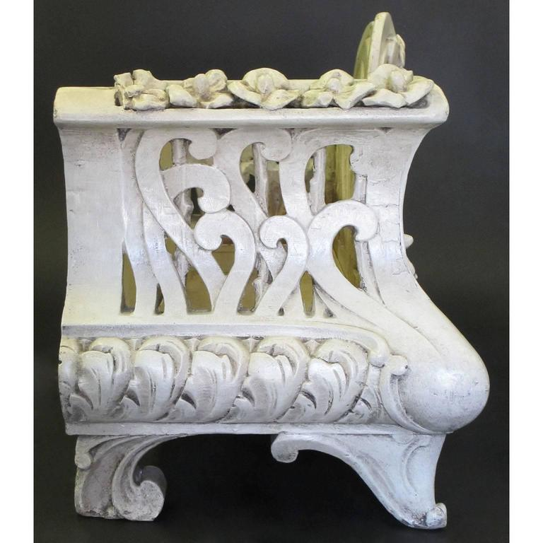Early 20th Century French Art-Nouveau Carved Wood Planter, Former Property of Oprah Winfrey For Sale