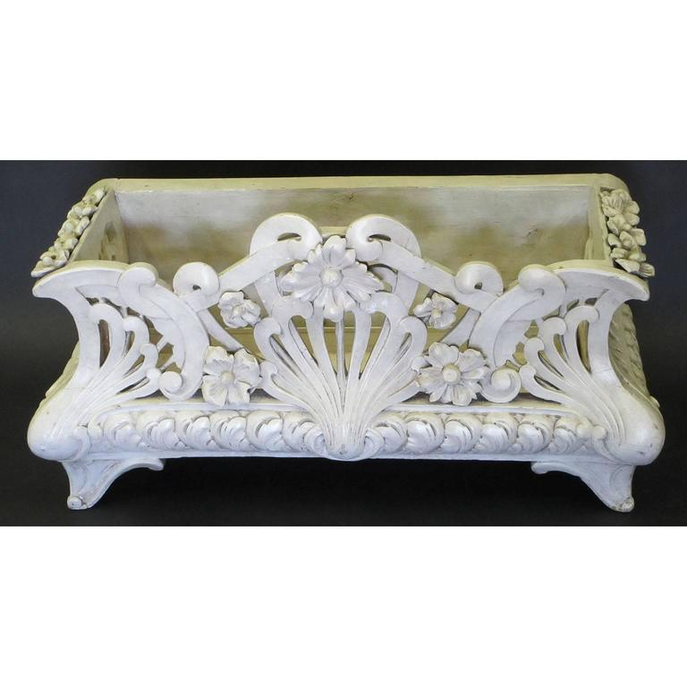 French Art-Nouveau Carved Wood Planter, Former Property of Oprah Winfrey For Sale 1