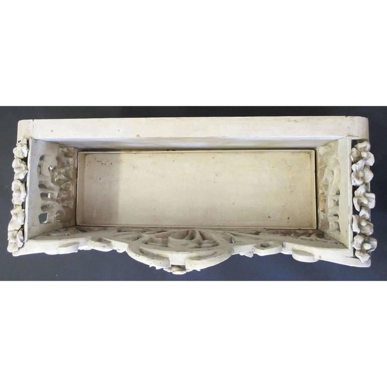 French Art-Nouveau Carved Wood Planter, Former Property of Oprah Winfrey For Sale 2