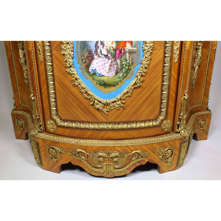 onyx french louis xvi style ormolu and svres style porcelain mounted meuble dappui for