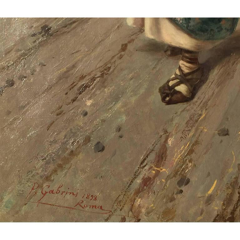 Pietro Gabrini Large Oil on Canvas