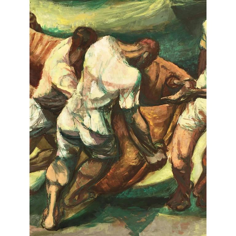 American Francis De Erdely Watercolor and Pencil