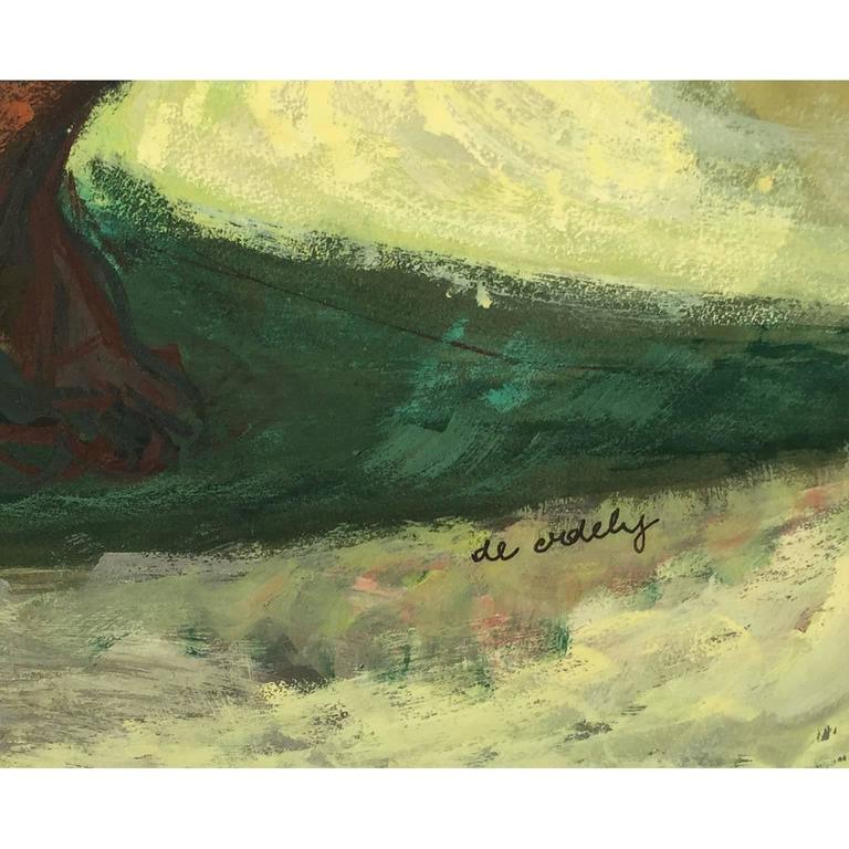 Francis De Erdely Watercolor and Pencil