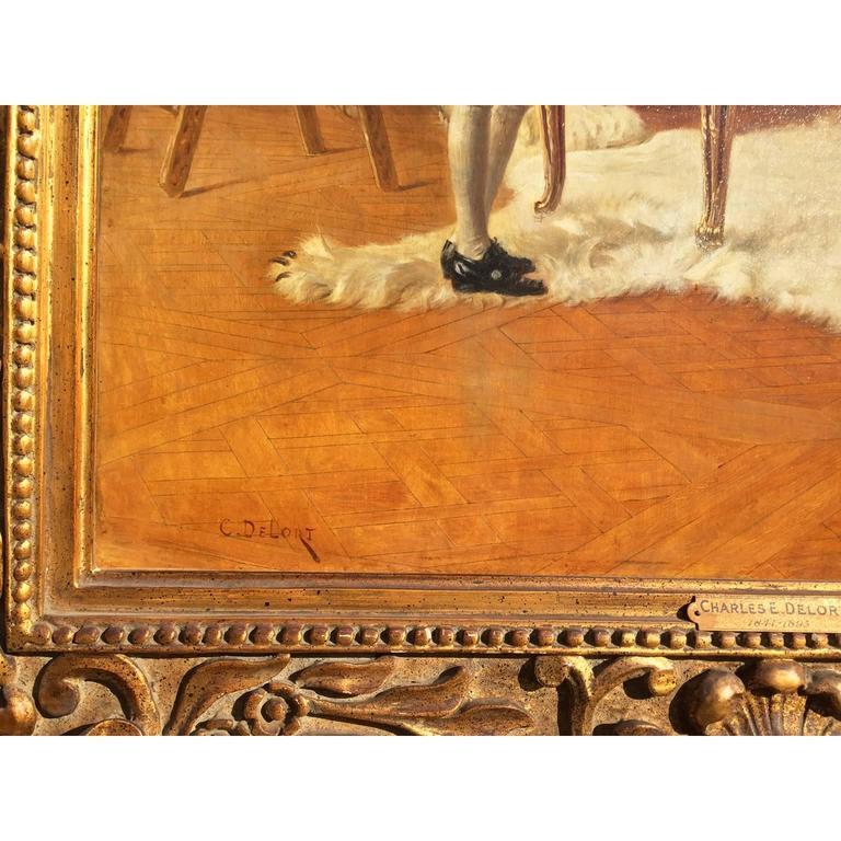 19th Century Charles Edouard Edmond Delort Oil on Canvas