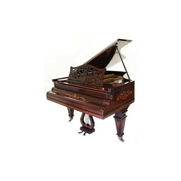 19th Century Louis XIV Style Marquetry Baby Grand Piano by Collard & Collard For Sale 3