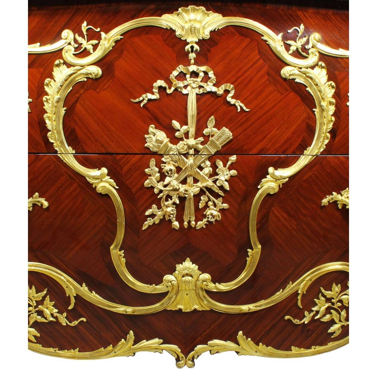 French 19th-20th Century Louis XV Style Ormolu-Mounted Commode In Excellent Condition For Sale In Los Angeles, CA