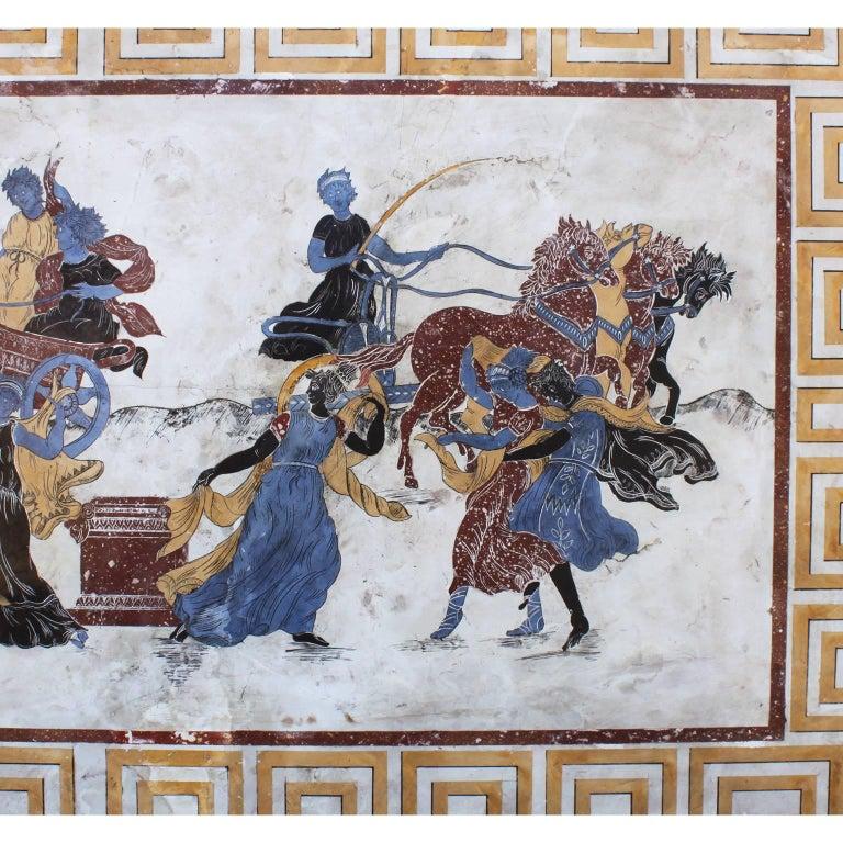 Greco Roman Italian 19th-20th Century Neoclassical & Greco-Roman Style Scagliola Wall Plaque For Sale