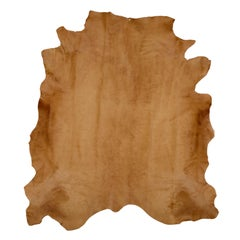 Caramel Brown Cow Hide Hair Rug