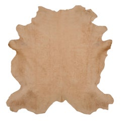 Light Beige Cow Hide Hair Rug