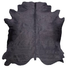 Gray Genuine Large European Cowhide Hair Rug