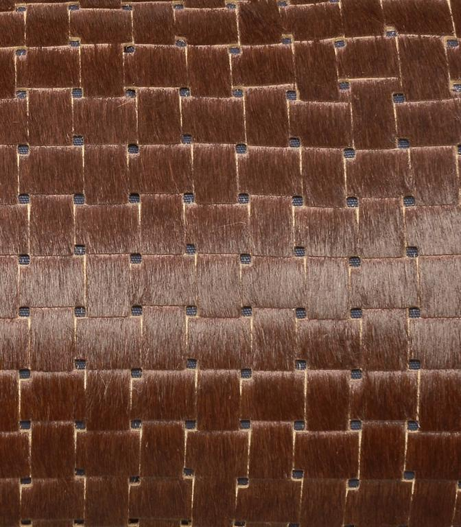 French Chocolate Brown Laser Cut Cowhide Hair Lumbar Pillow For Sale