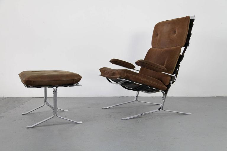 Suede Lounge Chair Quot Joker Quot By Olivier Mourgue For Airborne