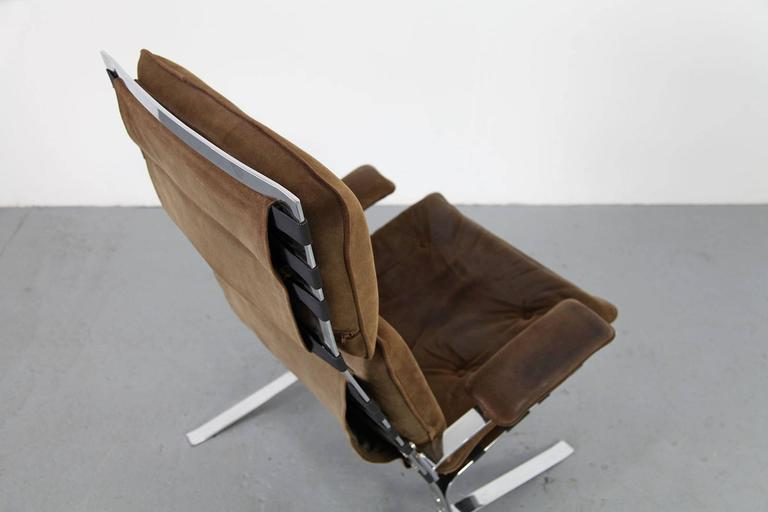 """French Suede Lounge Chair """"Joker"""" by Olivier Mourgue for Airborne For Sale"""